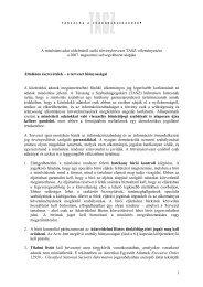 A minősített adat védelméről szóló törvénytervezet ... - TASZ