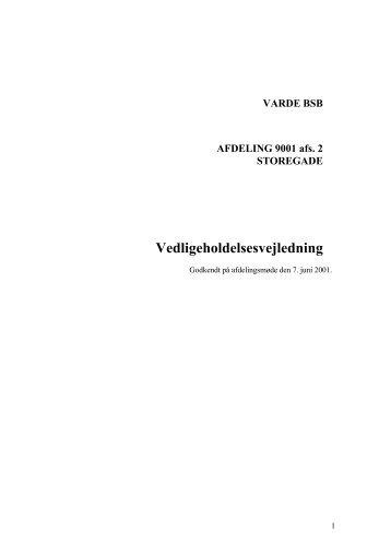 VARDE BSB AFDELING 9001 afs. 2 STOREGADE ... - Domea
