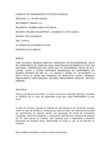 conselho de contribuintes do estado da bahia processo- ai ... - APET