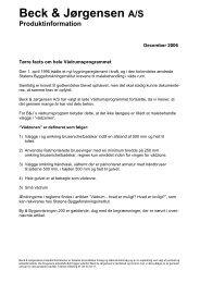 Beck & Jørgensen A/S Produktinformation