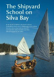 The Shipyard School on Silva Bay - Boat Design Net