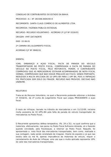 CONSELHO DE CONTRIBUINTES DO ESTADO DA BAHIA ...