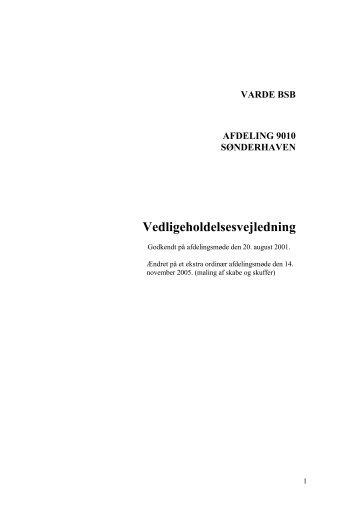 VARDE BSB AFDELING 9010 SØNDERHAVEN ... - Domea