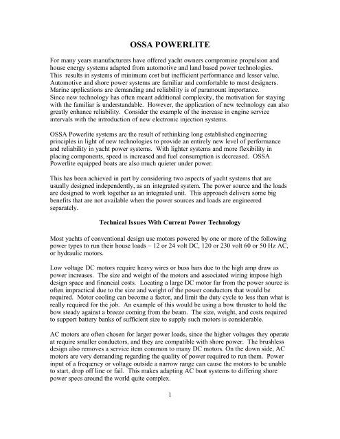 OSSA Powerlite pdf - Boat Design Net