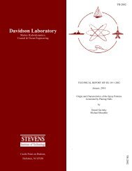 Origin and Characteristics of the Spray Patterns TR-2882 3-10 ...