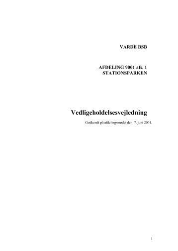 VARDE BSB AFDELING 9001 afs. 1 STATIONSPARKEN - Domea