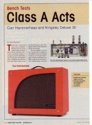 Guitar Player, Jul 2001 - Carr Amplifiers Home