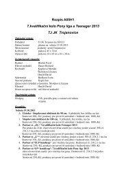 Rozpis A05H1 7.kvalifikační kolo Pony liga a Teenager ... - Jezdci.cz