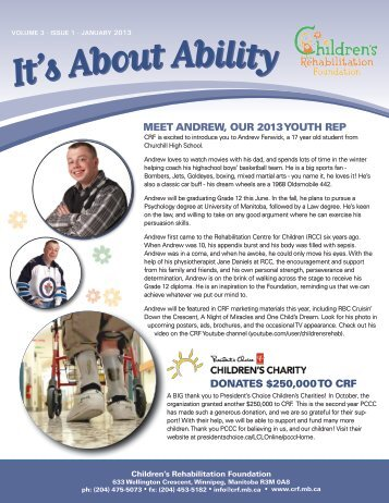 meet andrew, our 2013 youth rep donates $250000 to crf