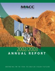 MACC Annual Report 2002/03 - Manitoba Agricultural Services ...