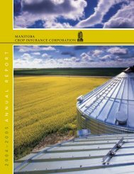 MCIC Annual Report 2004/05 - Manitoba Agricultural Services ...