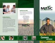 Learn more about a career with MASC - Manitoba Agricultural ...