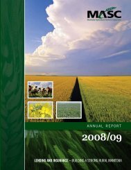 2008 /09 - Manitoba Agricultural Services Corporation