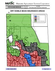 dry edible bean insurance areas - Manitoba Agricultural Services ...