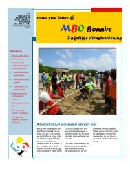 MBO Folder administratie 2013-2014. - Scholengemeenschap Bonaire