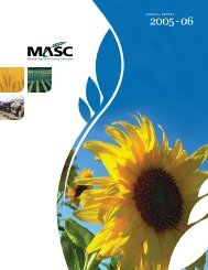 MASC Annual Report 2005/06 - Manitoba Agricultural Services ...