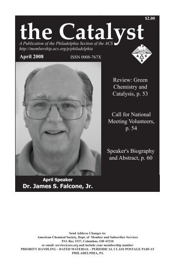 April Issue - Philadelphia Local Section - American Chemical Society