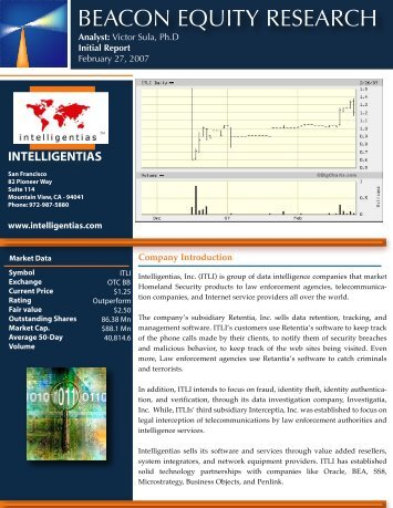 BEACON EQUITY RESEARCH - QualityStocks