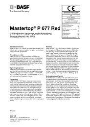 Mastertop® P 677 Red - Basf