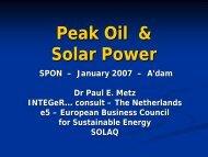 Peak Oil & Solar Power