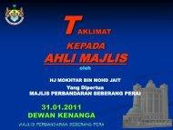 AHLI MAJLIS - Pantas   MPSP - Majlis Perbandaran Seberang Perai
