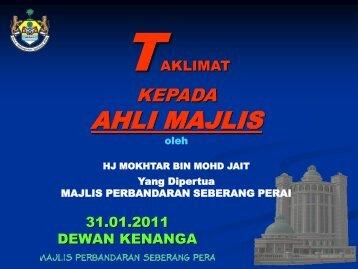 AHLI MAJLIS - Pantas | MPSP - Majlis Perbandaran Seberang Perai