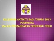 Kalendar Aktiviti 2013 - Majlis Perbandaran Seberang Perai