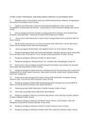 Syarat-syarat Penyewaan Dan Penggunaan Kompleks Kolam ...