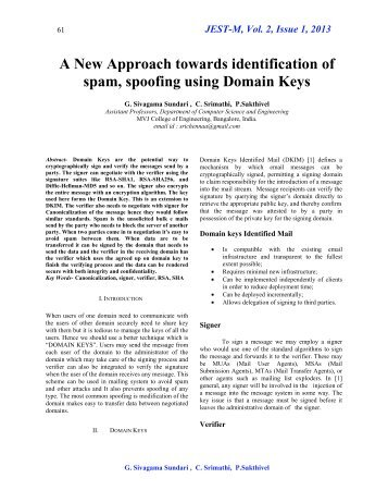 JEST-M, Vol. 2, Issue 1, 2013 - MVJ College of Engineering