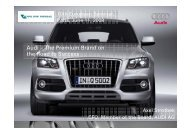 Audi – The Premium Brand on the Road to Success