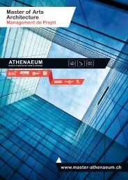 Master of Arts Architecture Management de Projet