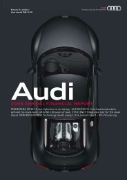2008 Annual Financial Report (12 MB) - Audi USA