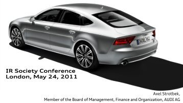 Presentation by Axel Strotbek - Audi USA