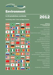 Getting the Deal Through - Environment - United - Travers Smith