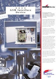 8800 GSM Interface Device 1.qxd - Cooper Security