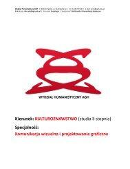 Komunikacja wizualna i projektowanie graficzne - Wydział ...