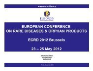 4 European Conference on Rare Diseases & Orphan ... - Eurordis