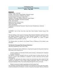 1st CEF Workshop Report - Eurordis
