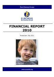 FINANCIAL REPORT 2010 - Eurordis