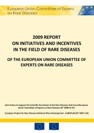 2009 report on initiatives and incentives in the field of rare ... - Eurordis