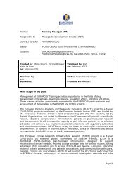 Page 1/3 Position Training Manager (TM) Responsible to ... - Eurordis