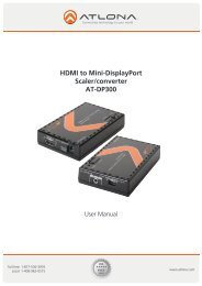 HDMI to Mini-DisplayPort Scaler/converter AT-DP300 - Atlona