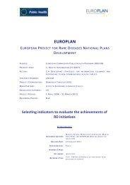 EUROPLAN - Eurordis