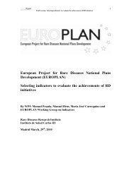 European Project for Rare Diseases National Plans ... - Eurordis