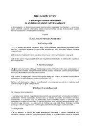 1992. évi LXIII. törvény a személyes adatok védelméről és a ... - TASZ