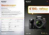 € 100,- retour - Introducing '1' from Sony