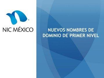 NUEVOS NOMBRES DE DOMINIO DE PRIMER NIVEL - Cudi