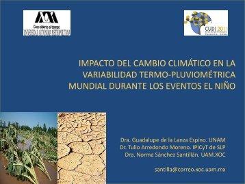 Impacto del Cambio Climático en la Variabilidad Termo ...