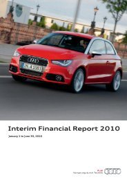 Interim Financial Report 2010 - Audi