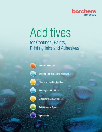 Additives for Coatings, Paints and Printing Inks - OMG Borchers